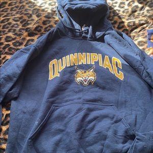 Quinnipiac college hoodie size L